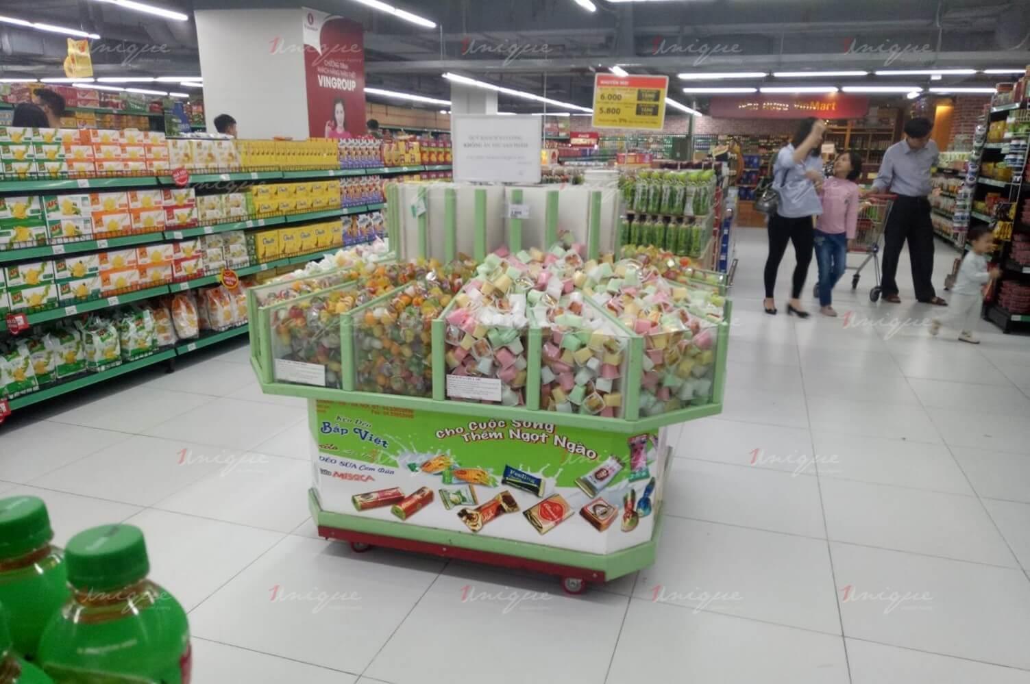quảng cáo tại siêu thị